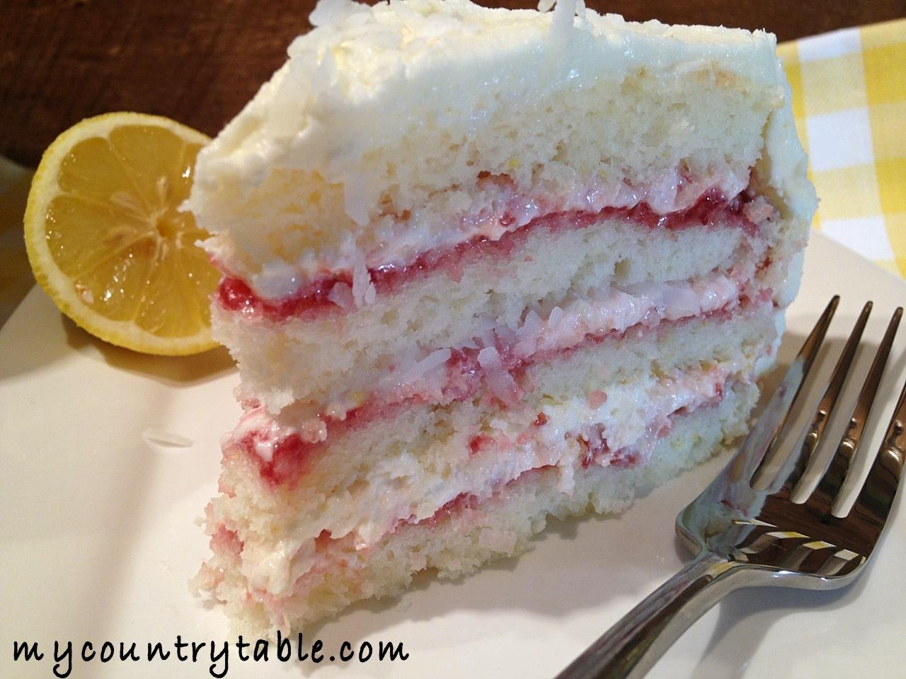 lemon raspberry cake coconut raspberry lemon cake my country table 5488